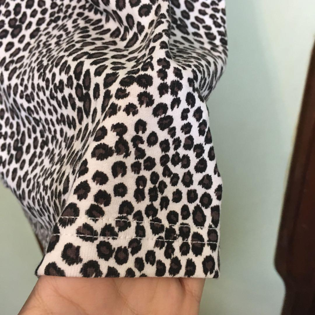 豹紋無袖繞脖洋裝