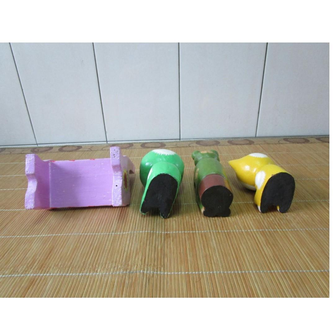 木製 動物.椅子玩具 (4個一起賣)