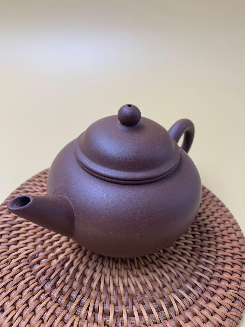 ~壺風茶道~A07《宜興紫砂 早期 荊溪南孟臣 水平壺》~古董、茶壺、普洱茶、紫砂壺