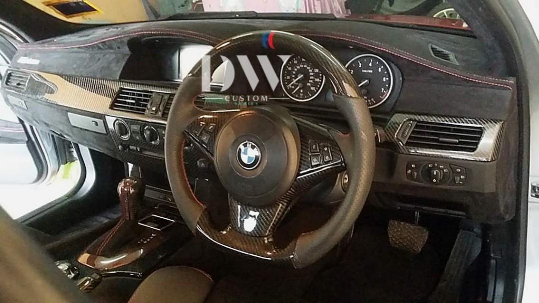 BMW E60 / E90 / F30 / F10 / G30 / F12 / F45 custom made carbon fiber &  alcantara leather interior parts