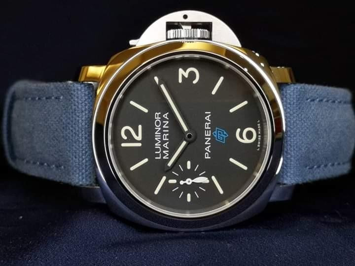 Brand New Panerai Luminor Marina Blue Logo PAM 777