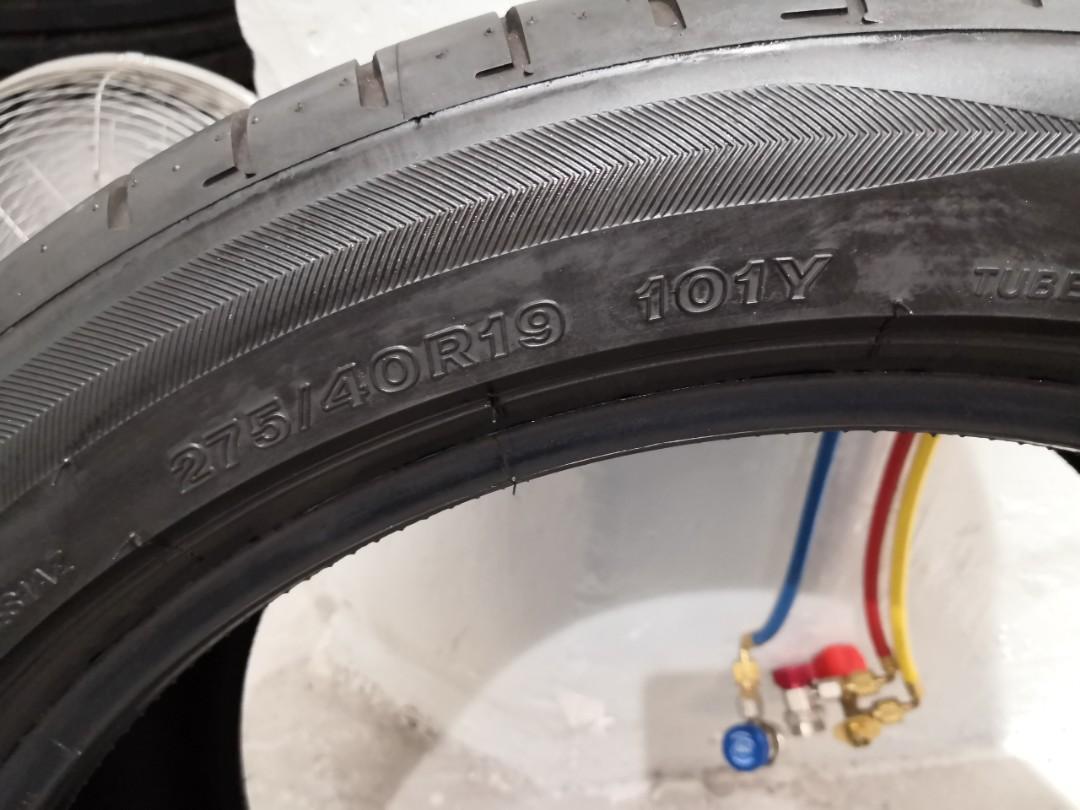 Bridgestone S001 275/40/19 x 2