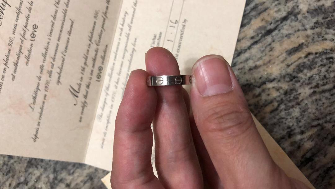 Cartier 18 K White Gold Ring