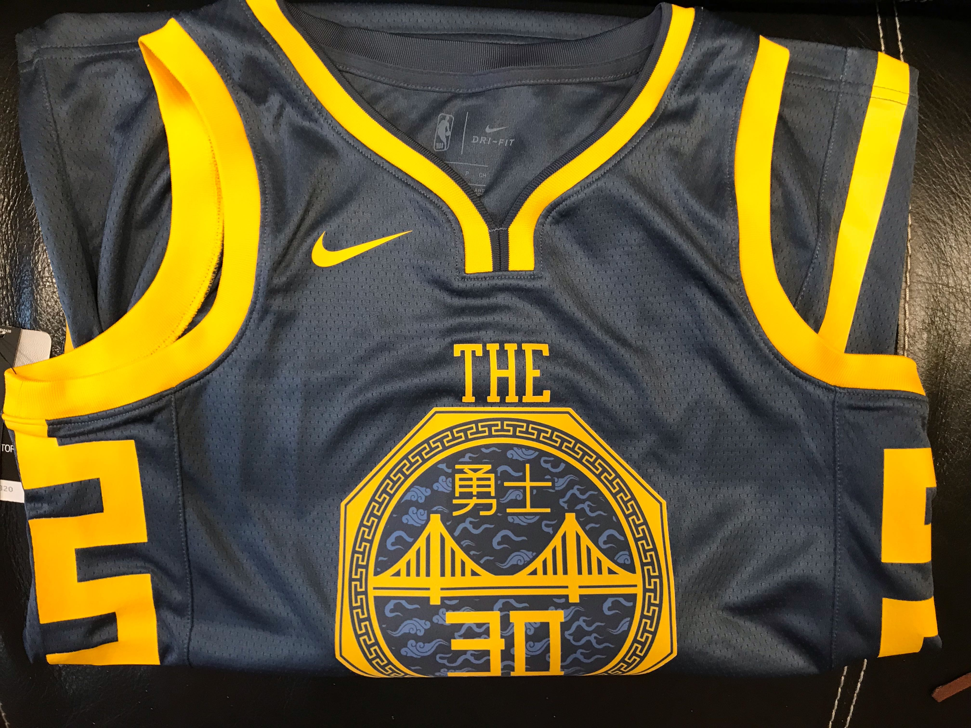 hot sale online a9917 0a805 Chinese Heritage 'The Bay' Stephen Curry #30 City Edition Swingman Jersey