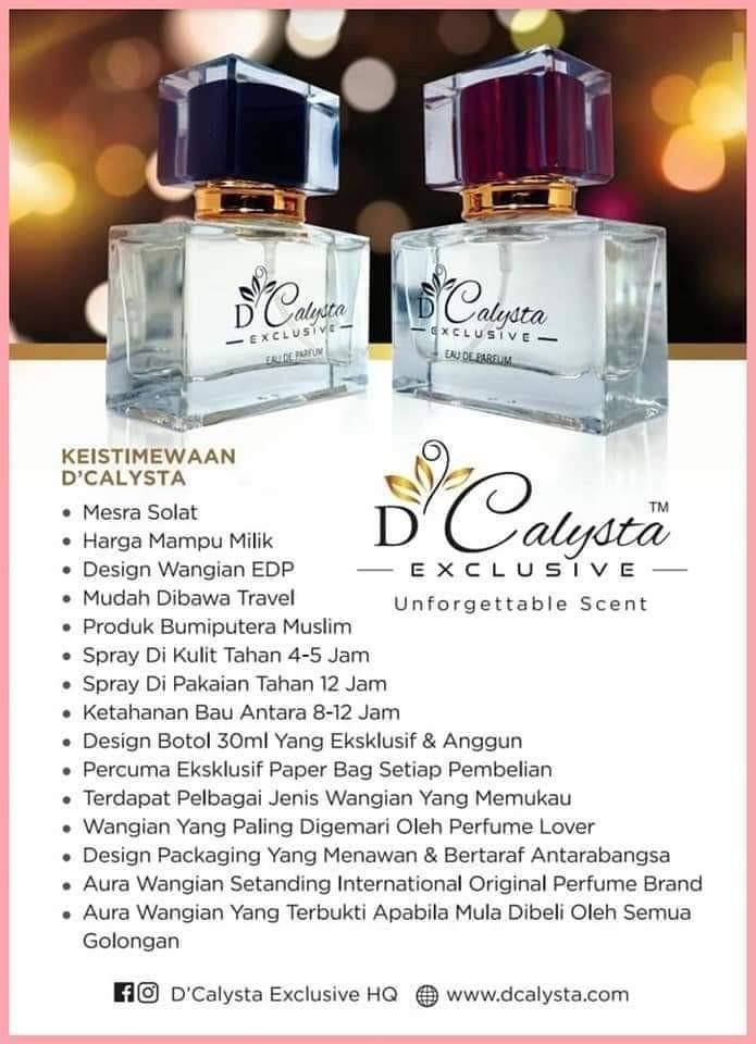 D'Victus D'calysta Halal Perfume