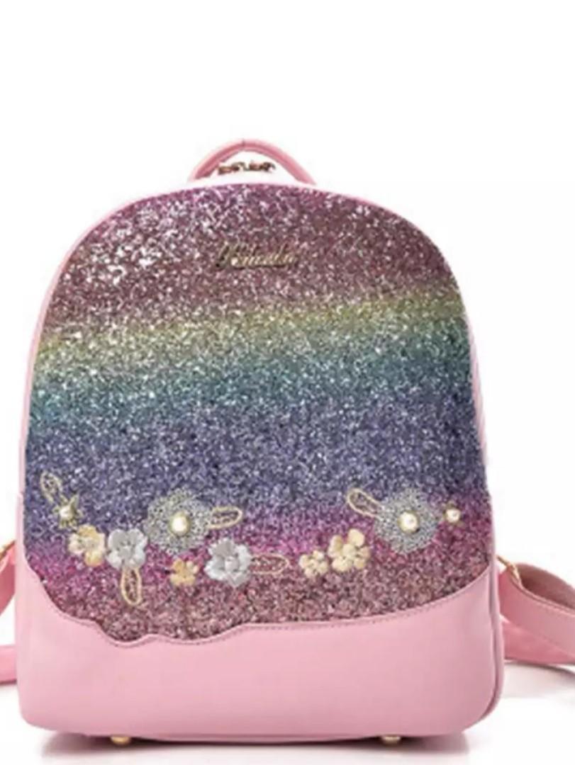 24d71eb4b291 Fashion Mini Backpacks Sequin Girls School Bag Leather Travel ...