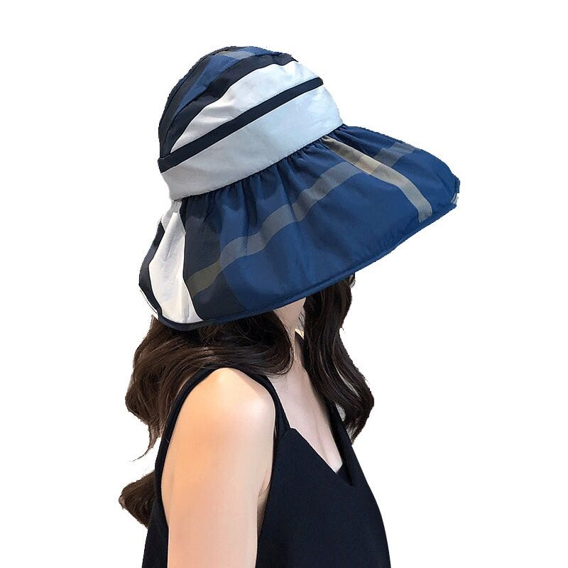 b45b52ae FREE 🚚: Korea style Navy blue foldable sun hat, fashion and full  coverage.Daily use and Outdoor activity, Women's Fashion, Accessories, Caps  & Hats on ...
