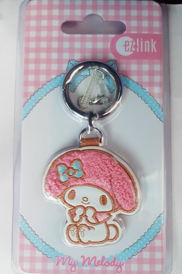 ✔Reserved✔❤FREE❤ #Blessing Authentic sanrio original my melody die cut ezlink charm keychain bagcharm