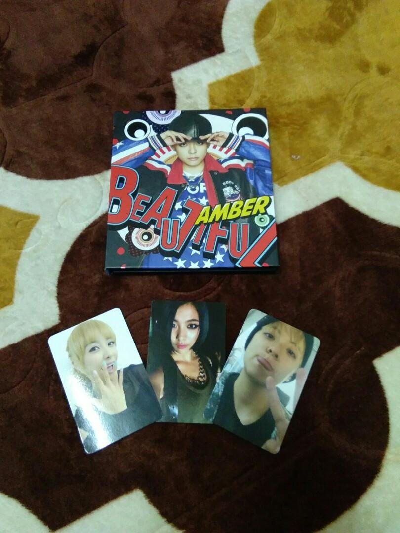 f(x) Amber Beautiful Album and f(x) official photocards