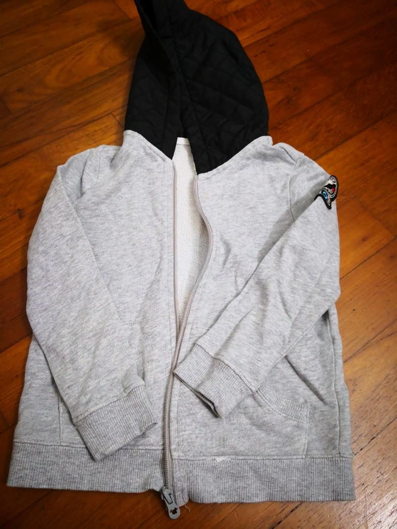 Giordano Grey Hoodie jacket