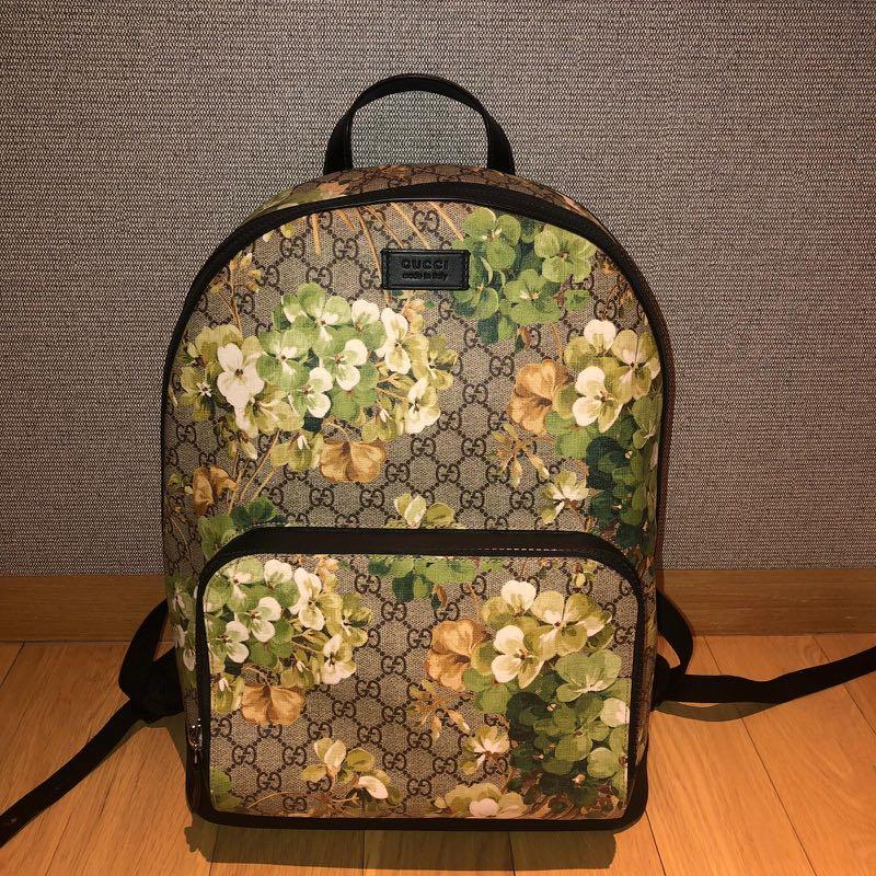 d285c696db6 Gucci GG Monogram Coated Bloom Floral Backpack Bag, Women's Fashion ...