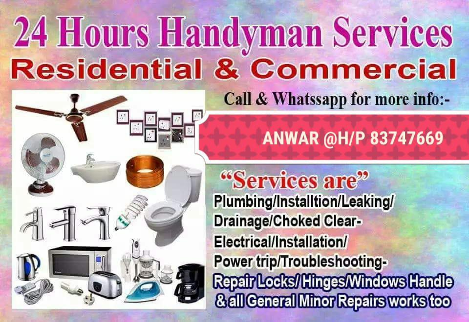 Handy man 24  hrs service 85457266