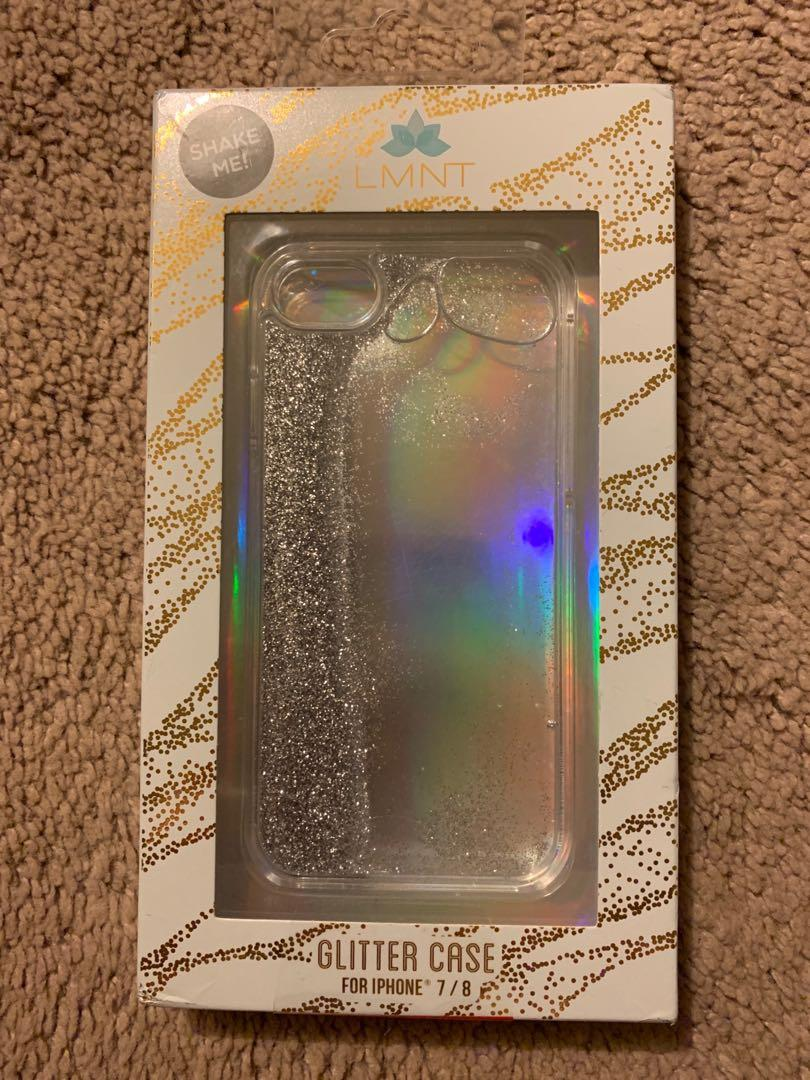 new concept b87b7 38ade LMNT iPhone 7/8 Glitter Case on Carousell
