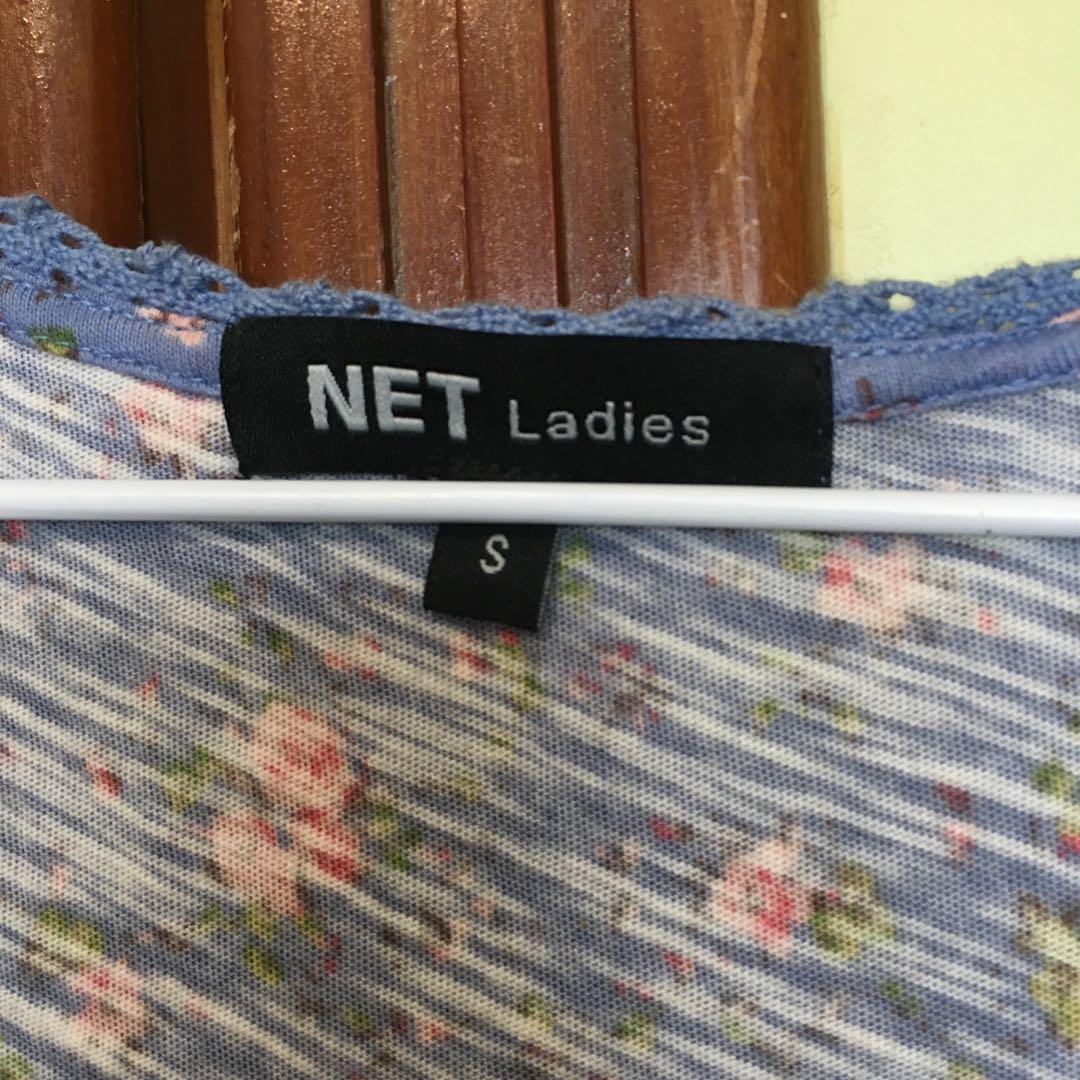 NET無袖碎花上衣