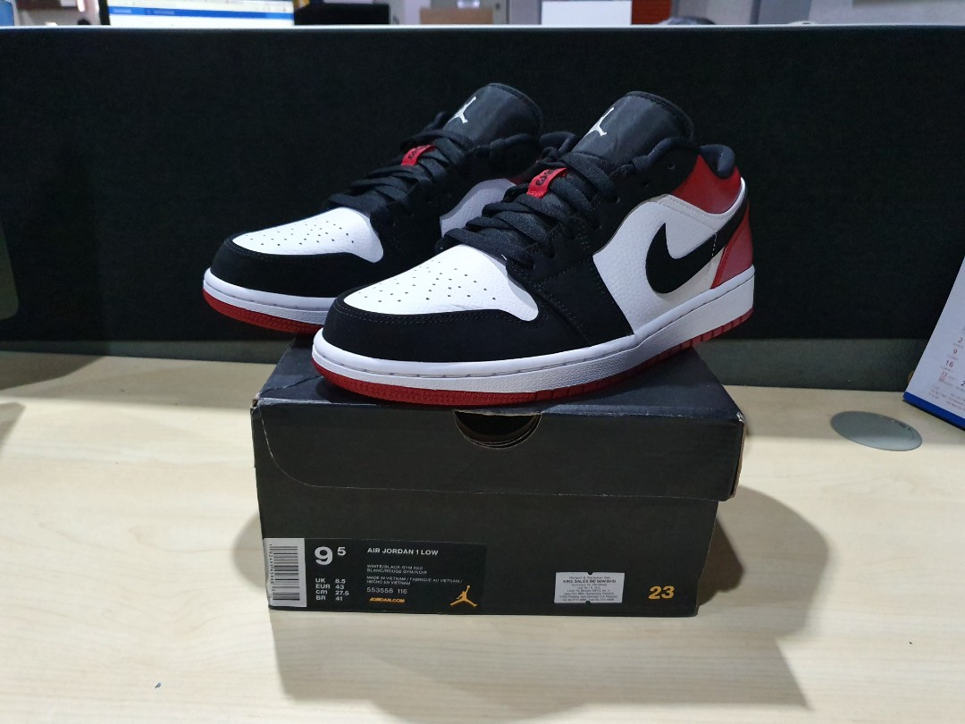 Nike Air Jordan 1 Low Black Toe not mid hi bred chicago