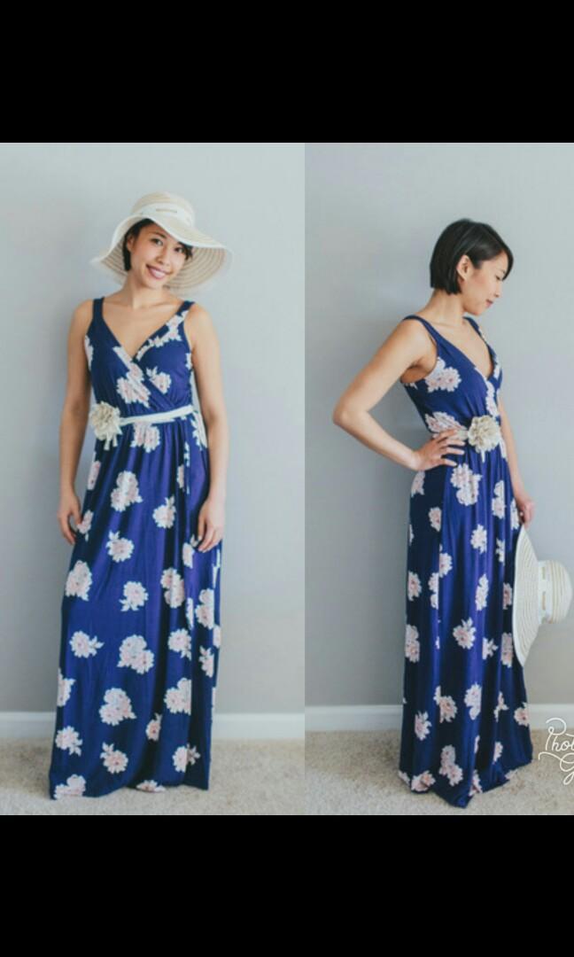 Old navy plus sizenavy blue maxi dress on Carousell