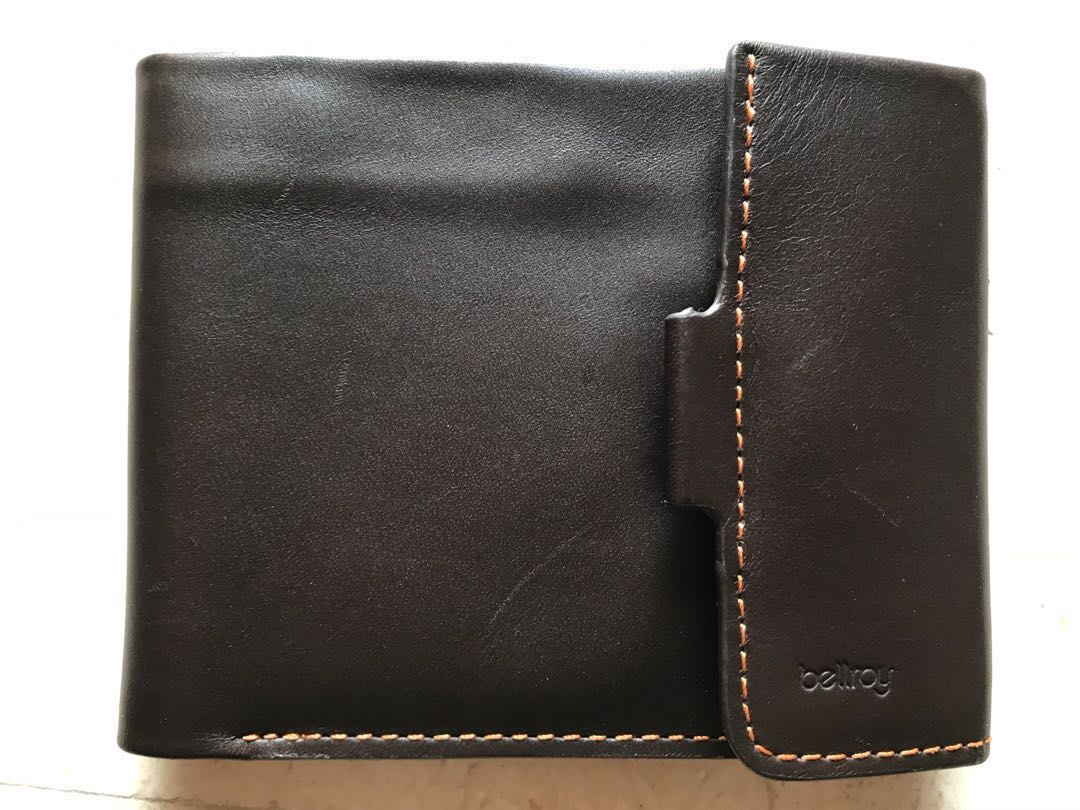 20dab365be Original Bellroy Coin Fold Leather Wallet Java Color