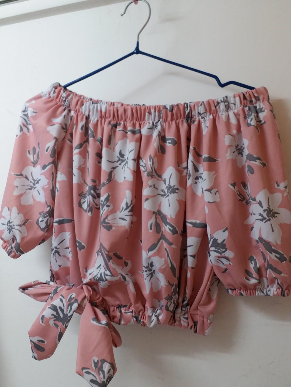 Pink floral off Shoulder