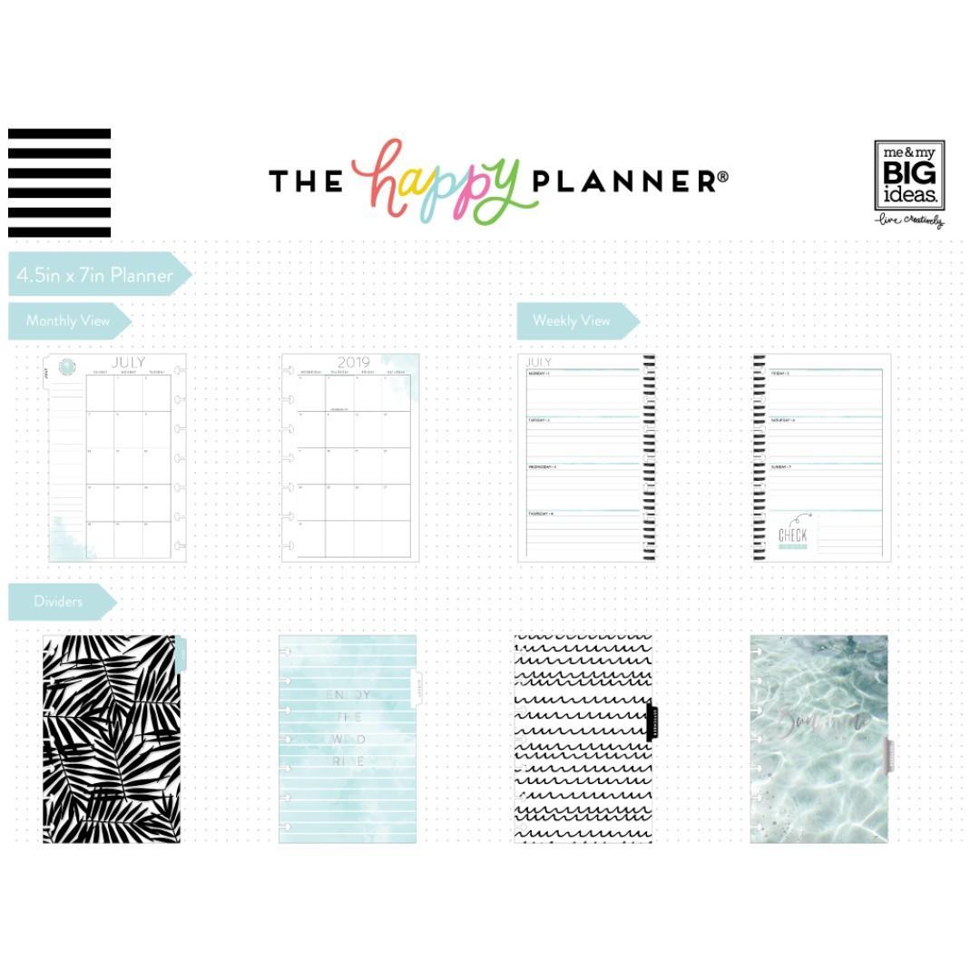 ★Planner★ Coastal Good Vibes 2019 - 2020 Mini Happy Planner (12 Months)