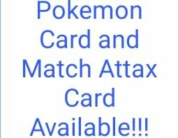 Pokemon Cards and Match Attax Cards