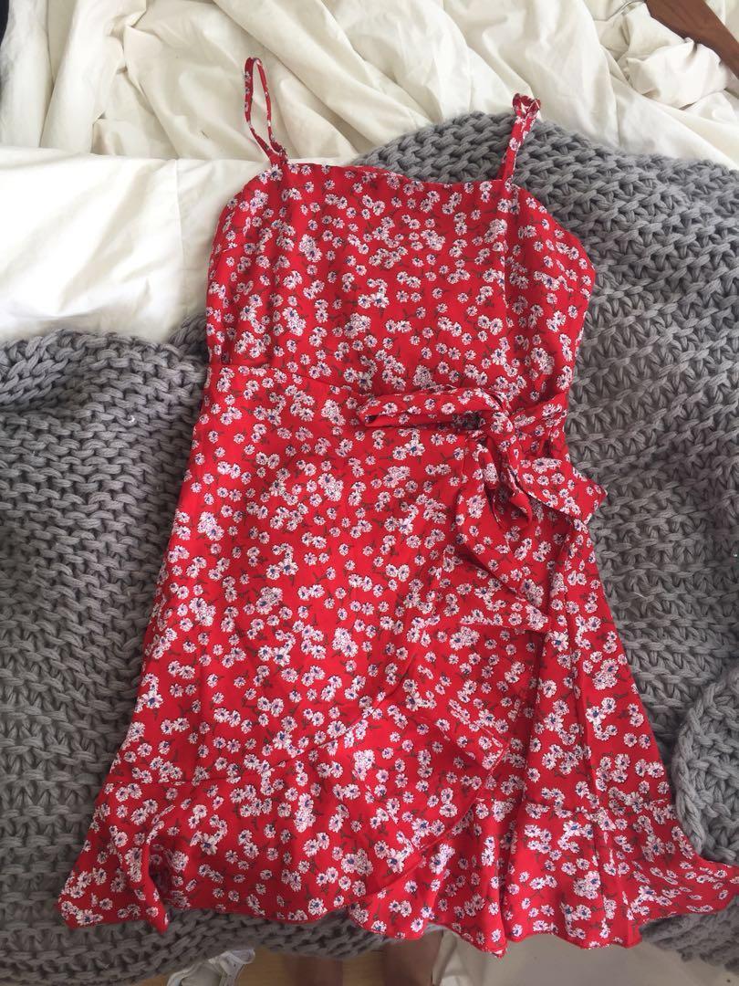 Princess Polly wrap dress size 8