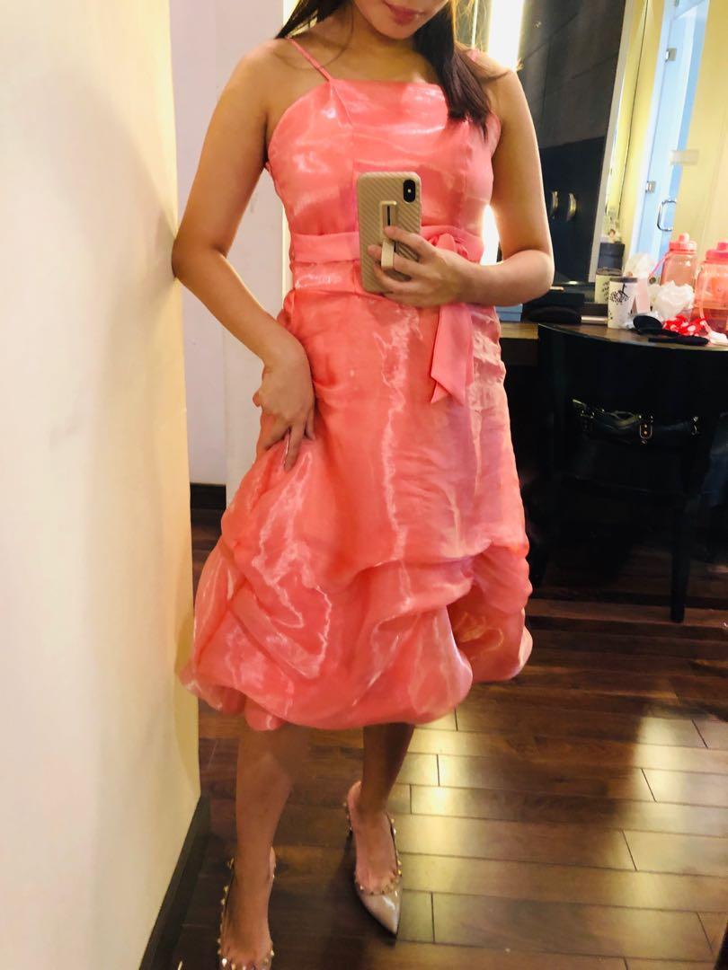 Prom pink dress