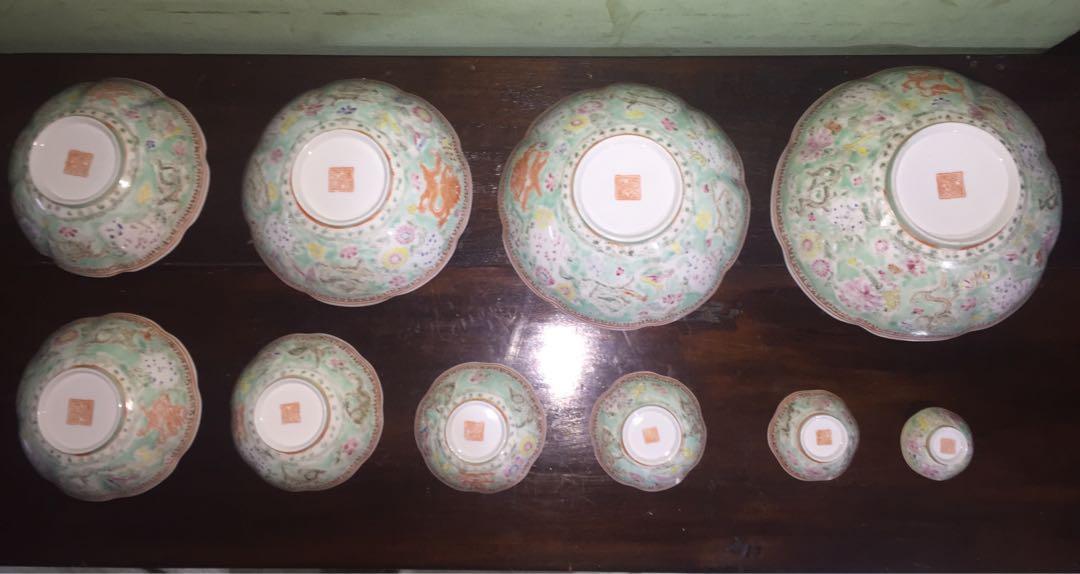 1 set mangkok Kerajaan Ming