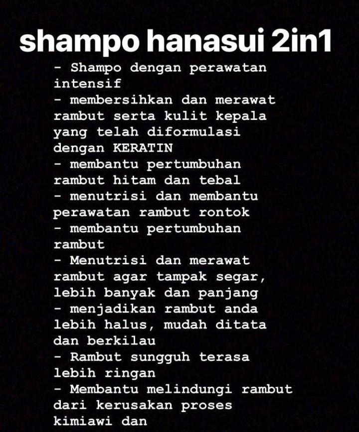 Shampoo hanasui