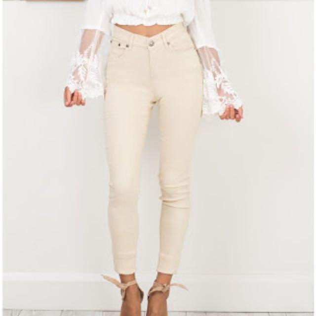 Showpo Beige Jeans