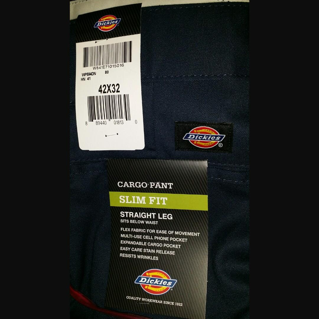 2019 real wide selection factory outlets Size 42 Dickies 594 Slim Fit Cargo Work Pants navy, Men's ...