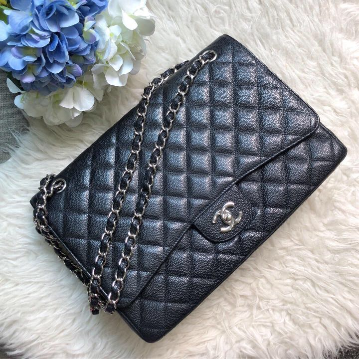 95a52c2b4e2e ✖️SOLD!✖ Superb Deal! Chanel Maxi SF in Black Caviar SHW ...