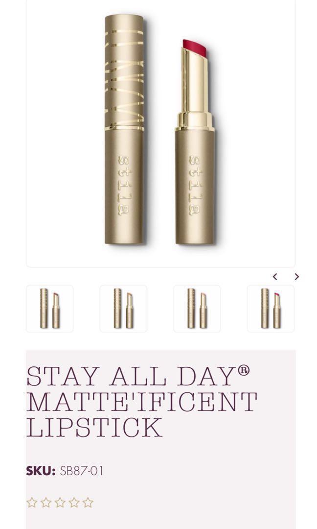 Stila Matte'ificent Lipstick (Colour: Etoile or Bisou)