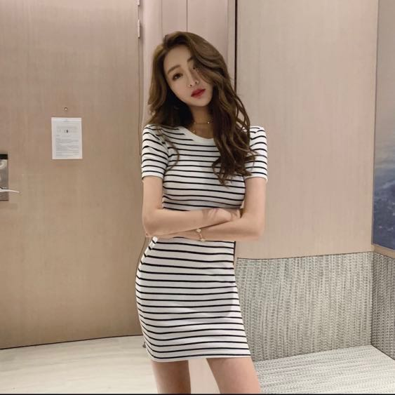 fa784b71c4df2 Striped Bodycon Dress, Women's Fashion, Clothes, Dresses & Skirts on ...