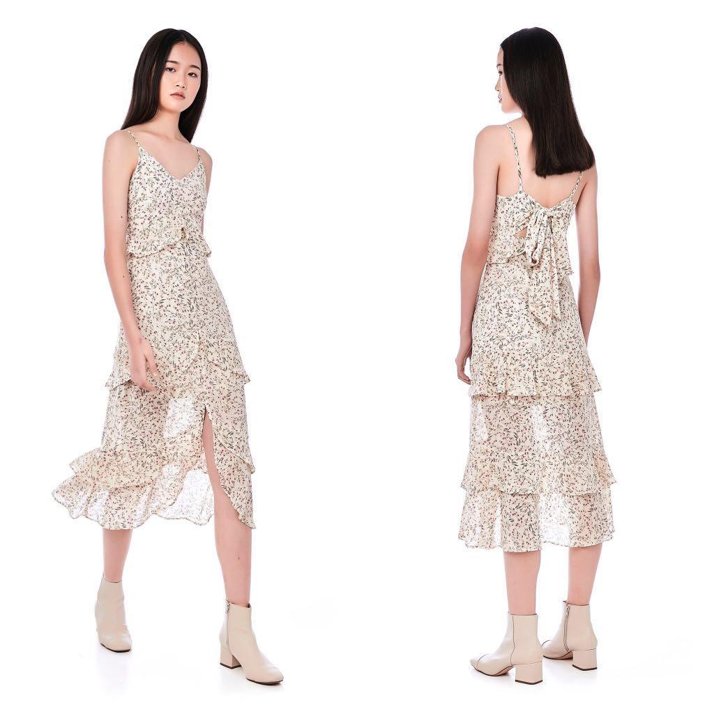 TEM Slyna Tiered Ruffle Dress (M)