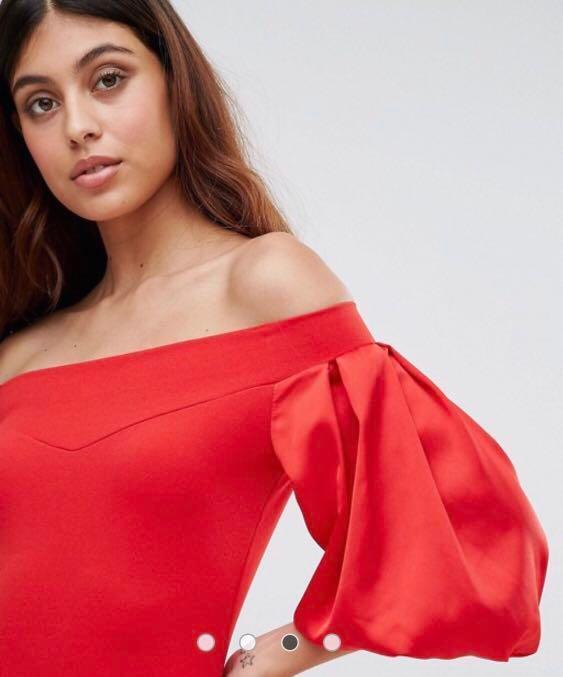TFNC Off-Shoulder Midi Dress - Size 6