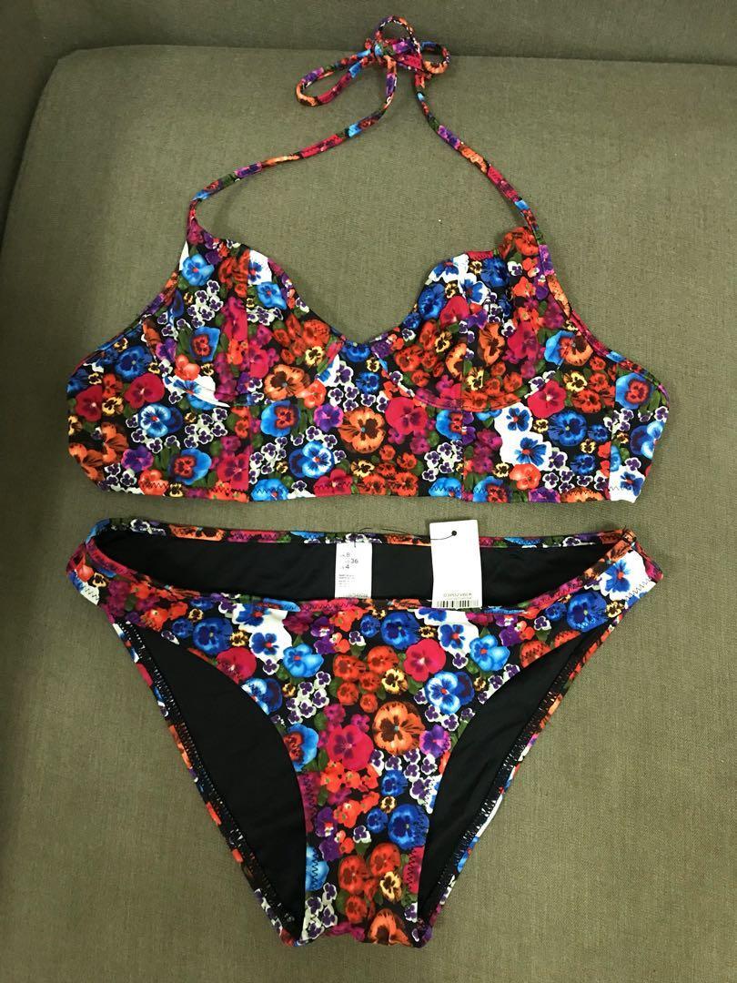 Topshop floral bikini two piece set
