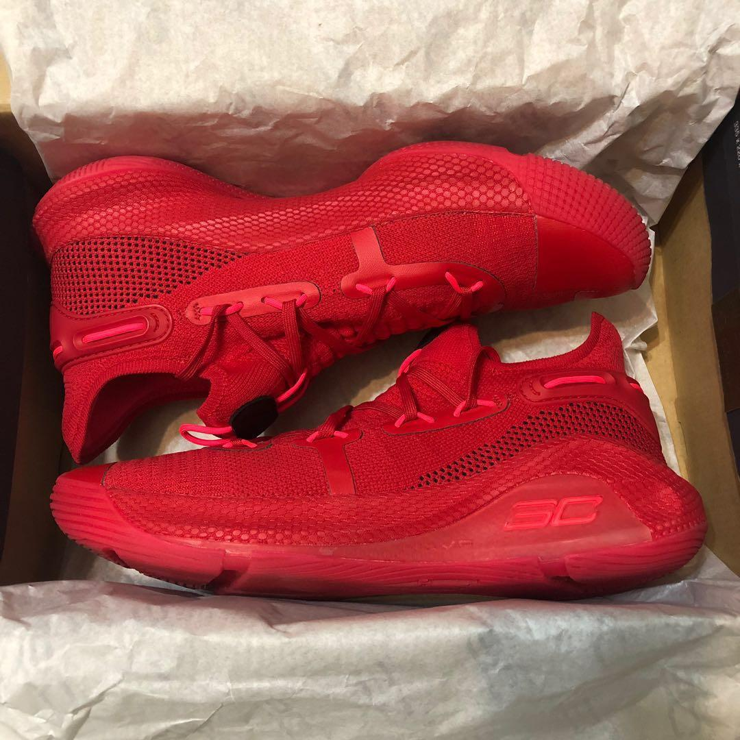 Under Armour Curry 6 Red US10, Sports