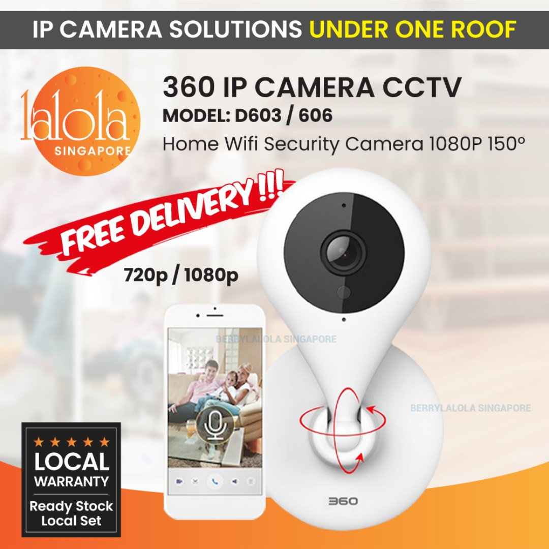 Wireless IP Cam 360 IP Camera D603/606 CCTV Home Wifi Security Camera 1080P  150° 7M Night Vision Baby Monitor