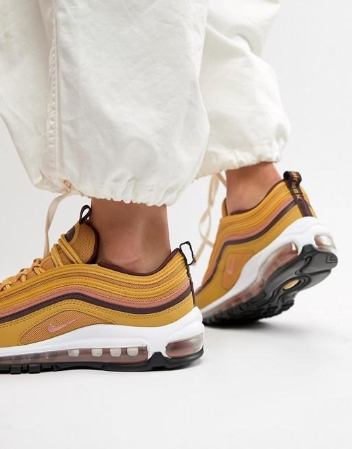 brand new 9db8d 8ad38 AUTHENTIC Womens Nike Air Max 97 RARE Mustard wheat gold ...