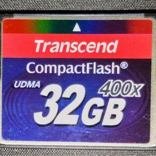 創見 32G 400X CF 記憶卡