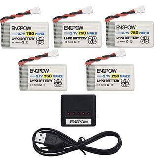 Syma X5C Drone Battery ENGPOW 3.7v 750mAh Lipo Battery