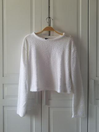 H&M Divided White Cropped Top