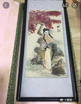 國畫及雕刻藝術創作作品,收藏品,栩栩如生,廉價出售