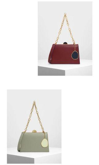 #BAPAU tas Charles&keith metal galaxy authentic