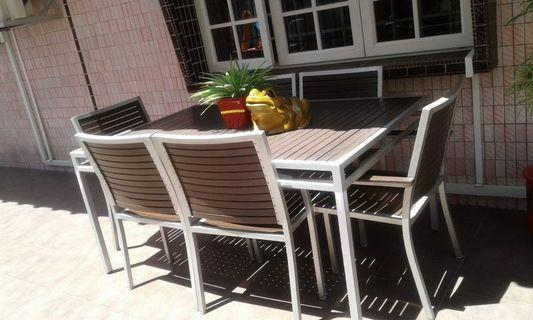 Rectangular Outdoor Table Set for 6.