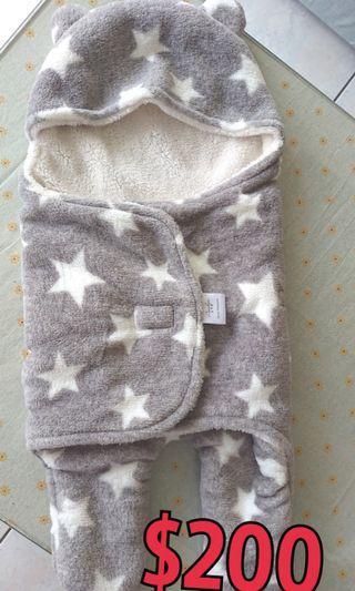 🚚 二手 保暖嬰兒包巾