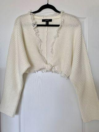 Forever 21 Knit Cropped Sweater Cream