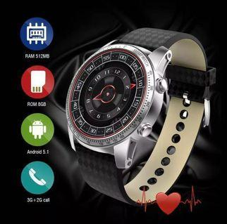 KW99 Android 5.1 Smart Watch Bluetooth GPS Wifi Heart Rate Monitor Watch Compatible with IOS Android System