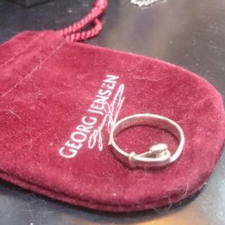 Georg Jensen 喬治傑生編號204朵蘭純銀戒指