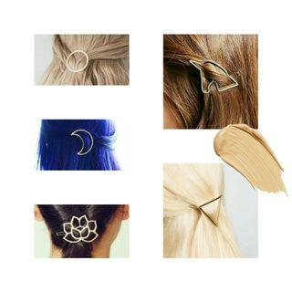 Geometric Hair Clips